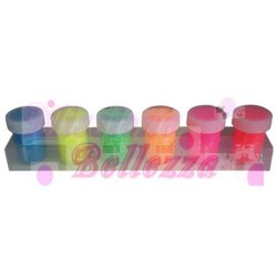 ACQUERELLI SET 6 COLORI ACRILICI FLUORESCENTI PER NAILS ART