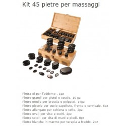 SET PIETRE MASSAGGIO PER HOT STONE MASSAGE 45 PZ